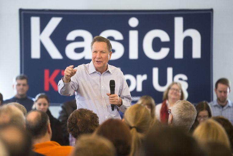 John Kasich op een campagnebijeenkomst Beeld ap