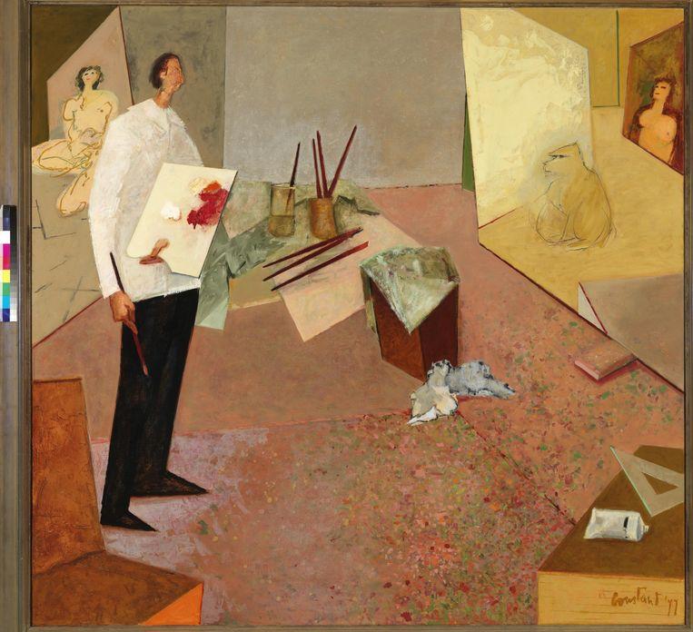 Constant, De schilder in zijn atelier (1977) Beeld collectie ABN AMRO