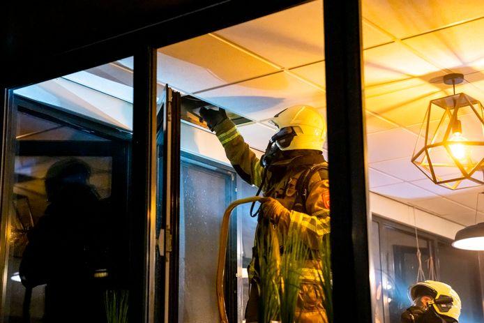 Brand in een kantoor aan de Hoevestein in Oosterhout.