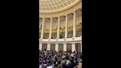 Amokmaker opgepakt tijdens plenaire vergadering in Kamer