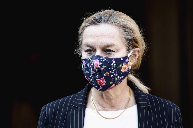 Sigrid Kaag na afloop op het Binnenhof van een overleg van de Ministeriele Commissie COVID-19. Beeld ANP