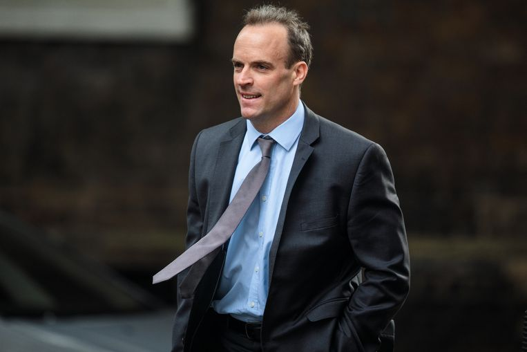 Nieuwe brexitminister Dominic Raab. Beeld Getty Images