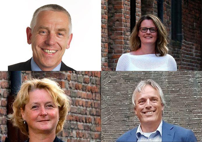 De wethouders uit Vianen: Marcel Verweij, Tirtsa Kamstra, Christa Hendriksen en Huib Zevenhuizen.