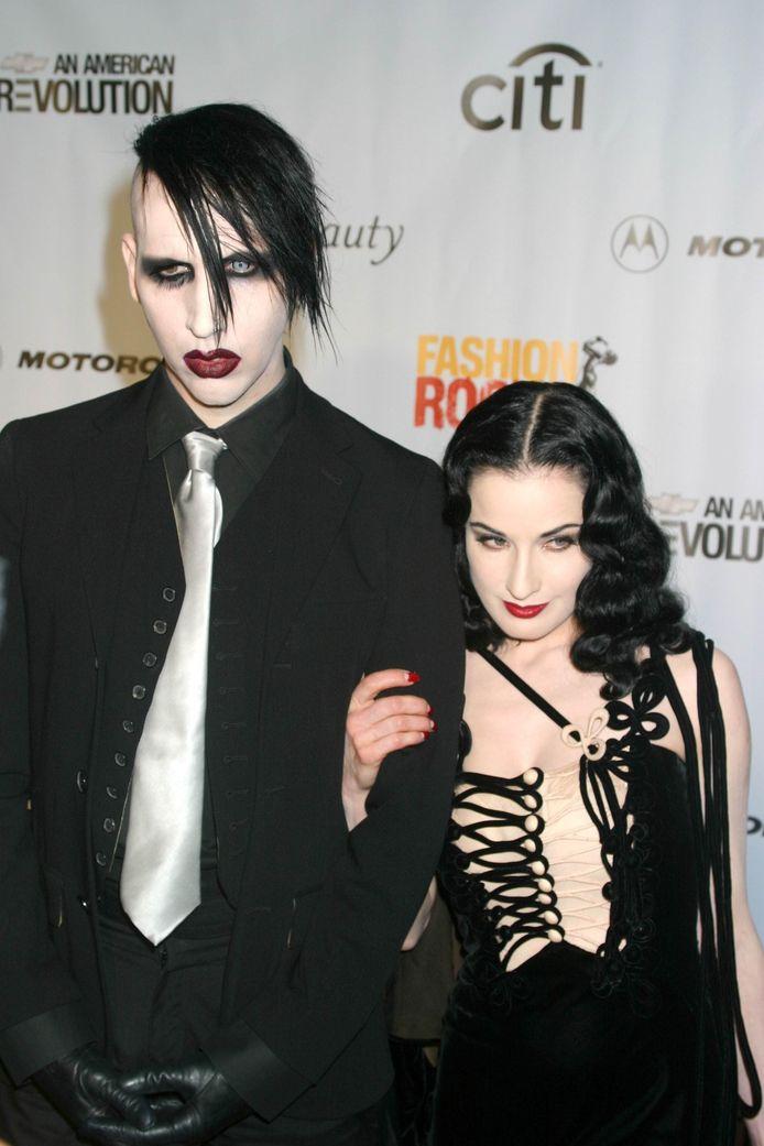 Dita Von Teese en Marilyn Manson