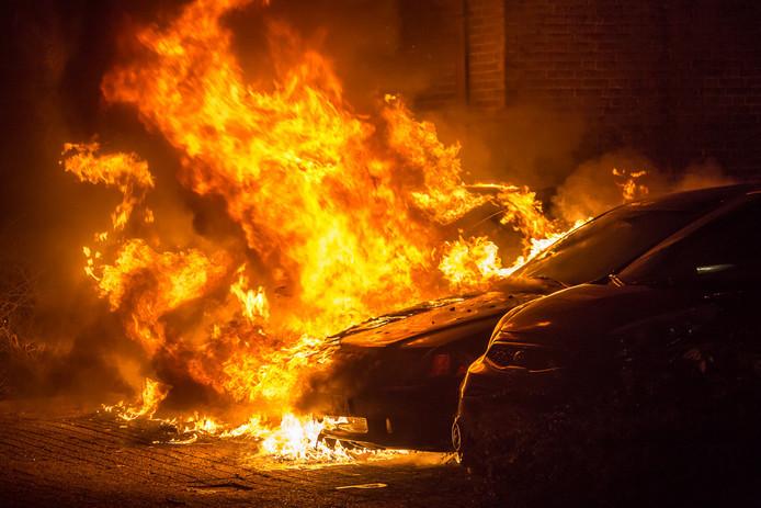 De autobrand in Mijdrecht