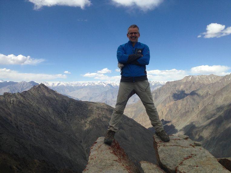 Paul Hegge stond eerder al op de Gasherbrum II in Pakistan.