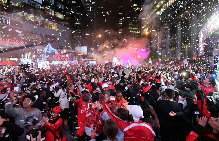De straten van Toronto afgelopen nacht.