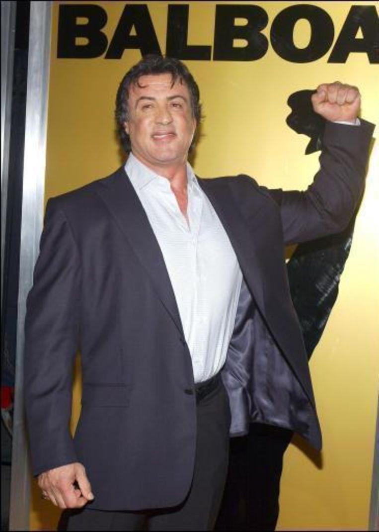 'Rocky' Sylvester Stallone kiest voor John McCain Beeld UNKNOWN