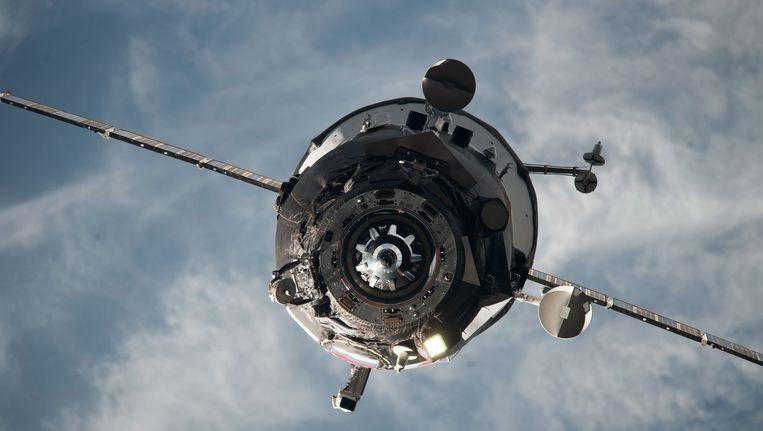 Een bevoorradingsmodule van het ISS. Beeld ap
