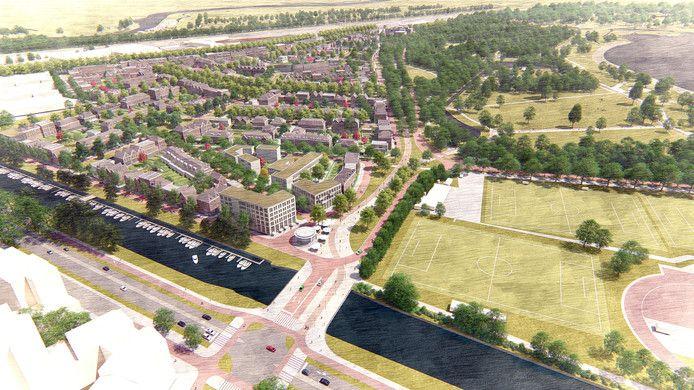 Zo zou de wijk Nieuw Kralingen eruit moeten gaan zien. De VVD in de gebiedscommissie Kralingen-Crooswijk hamert op het belang van openbaar vervoer van en naar de wijk.