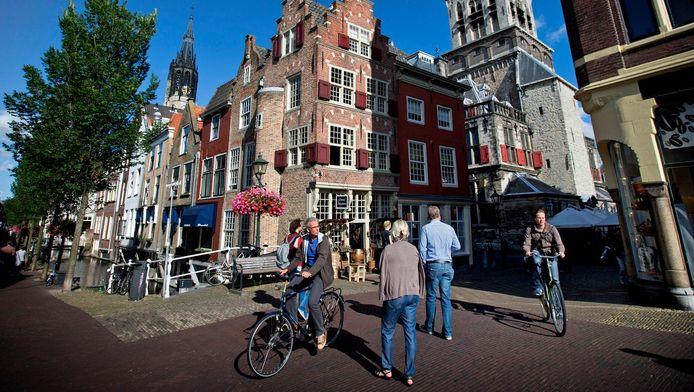 De binnenstad van Delft.