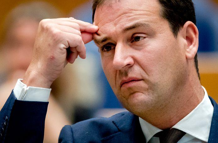 Lodewijk Asscher (PvdA) tijdens het debat in de Tweede Kamer over de voortgang van de kabinetsformatie.