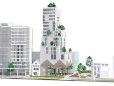 Plan voor parkeerplaatsje Vestdijk Eindhoven: woontoren boven overdekt plein
