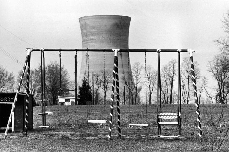 Een speeltuintje nabij Three Miles Island, ten tijde van de gedeeltelijke meltdown in 1979. Beeld AP