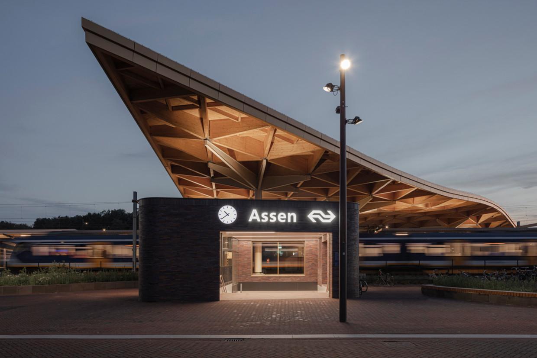 Het nieuwe station van Assen. Beeld Sebastian van Damme