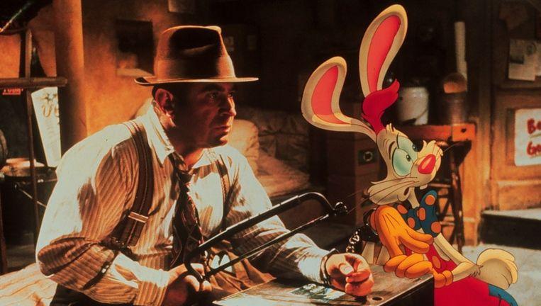 Hoskins speelde in 1988 de hoofdrol in de film Who Framed Roger Rabbit. Beeld anp