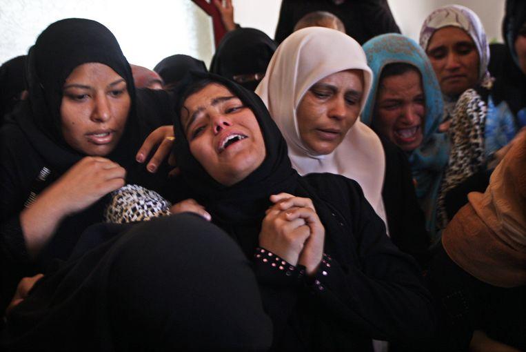 Bij bombardementen door Israël kwamen er in juli vorig jaar verschillende mensen om het leven. Beeld PHOTO_NEWS