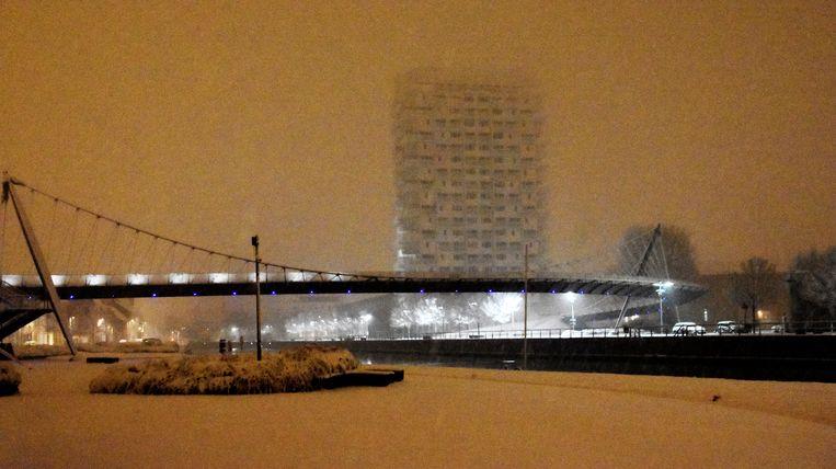 De Collegebrug, met zicht op K-Tower ook.