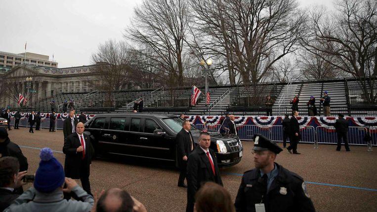 De inauguratie van Donald Trump, vrijdag, bezocht door 'de grootste menigte ooit' - aldus het Witte Huis Beeld Carlos Barria/Reuters