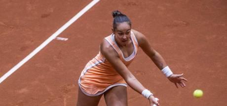 Kerkhove redt het op Roland Garros nét niet met Van der Hoek aan haar zijde