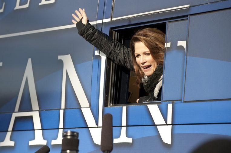 Michele Bachmann, de enige vrouw in het rijtje van presidentskandidaten, behaalde vijf procent van de stemmen. Beeld PHOTO_NEWS