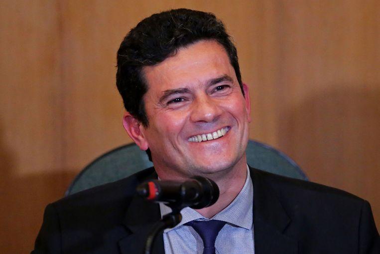 Sergio Moro's benoeming tot minister van Justitie is door veel Brazilianen met luid gejuich ontvangen.  Beeld AFP