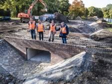 Aanleg Stadsbeek: eerste regenpijpen afgekoppeld, einde van enorme project nadert