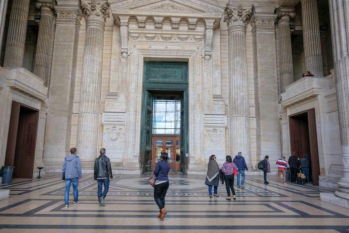 Brussels justitiepaleis, waar de man berecht werd