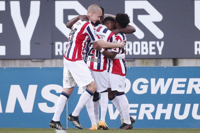 Willem II viert de 2-0 van Kwasi Wriedt.