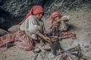 In de winter leven de Tarahumara meestal in de grotten van de canyons: beetje bij beetje hebben ze deze traditie verlaten. Locatie: Sierra Tarahumara, Chihuahua, januari 1974.