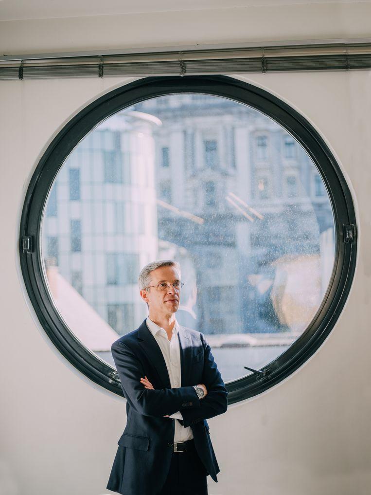 Thomas Van Craen, bankdirecteur van Triodos: 'We willen menswaardigheid als basisprincipe hanteren.' Beeld Kevin Faingnaert