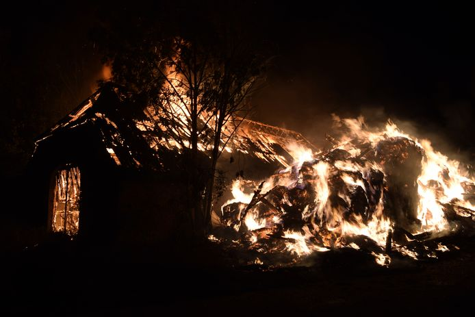 Grote brand in Loods in Terborg