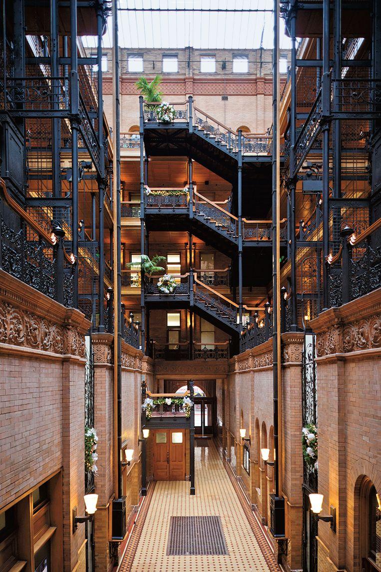 De Bradbury Building. Hier werd de film 'Blade Runner' opgenomen. Beeld shutterstock