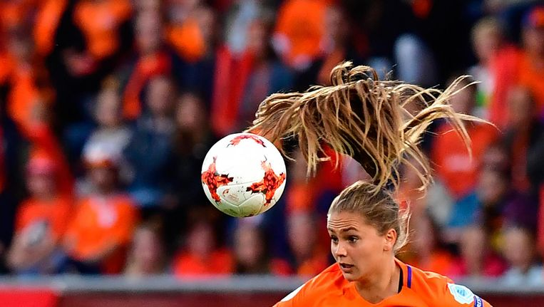 Lieke Martens, ster van het Nederlands elftal. Beeld AFP
