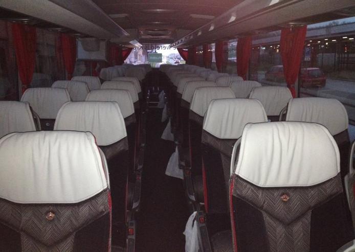 De bus bij vertrek uit Den Bosch.