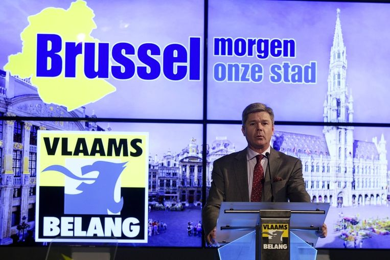 Dominiek Lootens, fractieleider van het Vlaams Belang in het Brussels parlement.