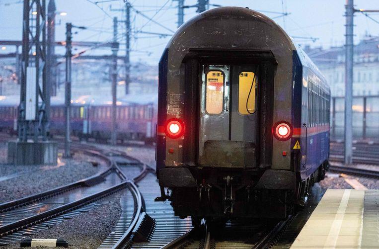 De nachttrein van Wenen naar Amsterdam. Beeld AFP