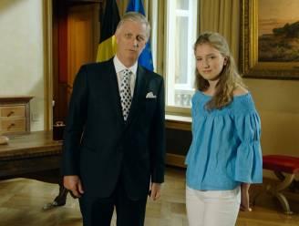 Kroonprinses Elisabeth krijgt unieke blik achter de schermen tijdens toespraak koning Filip
