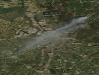 Rookpluim van brand op Groot Schietveld in Brecht trekt over Waasland