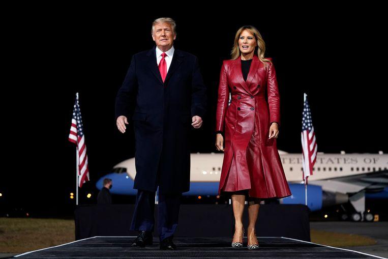President Donald Trump en first lady Melania. Beeld AP