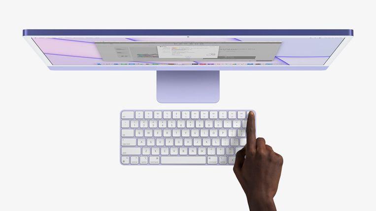 Handig ontgrendelen met vingerafdrukscanner in het toetsenbord Beeld Apple