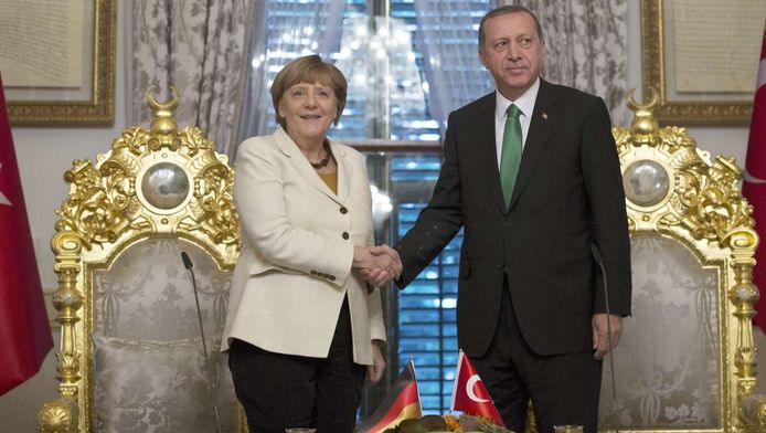 Angela Merkel en Recep Tayyip Erdogan