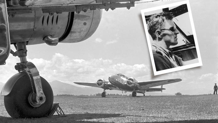 """Fred """"Pulk"""" Pelder ontsnapte in 1942 in een vergelijkbare Lockheed aan de Japanners."""