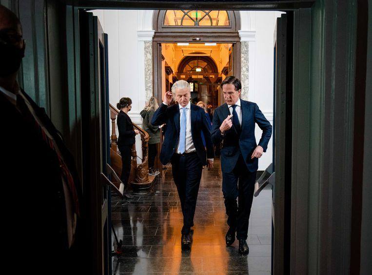 'Mensen die zijn toorn ondergaan, zijn blijvend onder de indruk. Geert Wilders noemde die woede-uitbarstingen 'zeer intimiderend' en 'een minister-president onwaardig'.' Beeld BELGAIMAGE