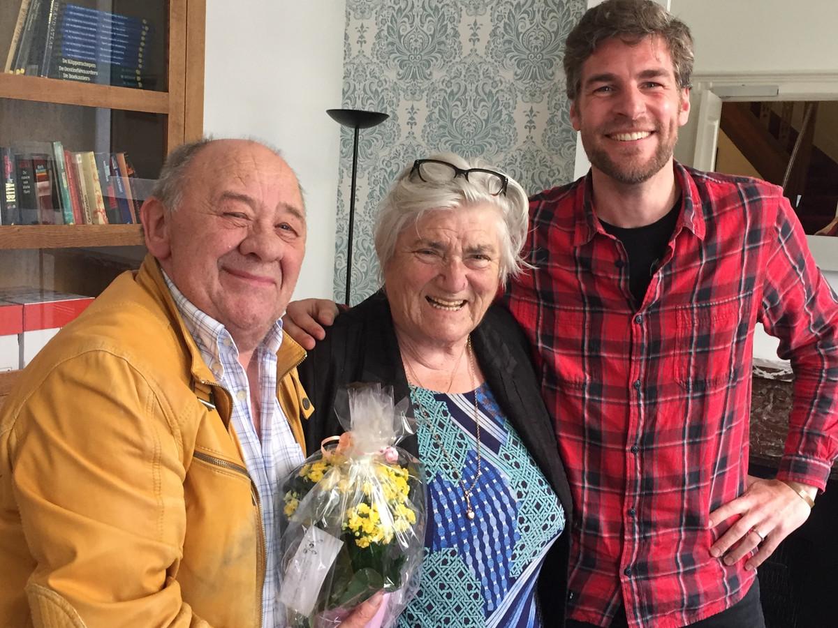 Maarten Swaan met Frits Lambrechts en Nelly Frijda.
