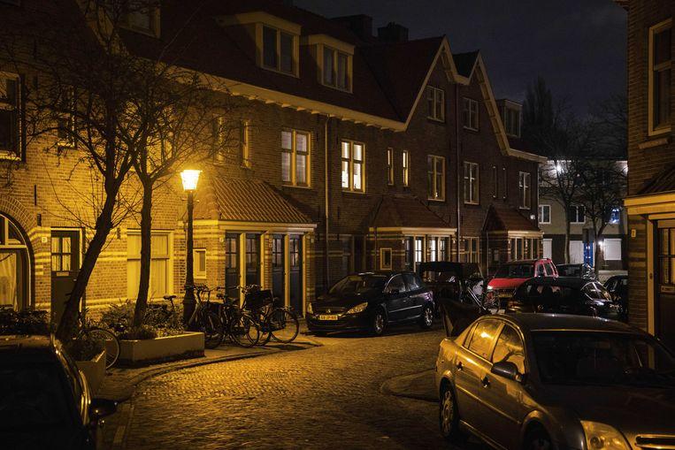 Een lege woonwijk in Amsterdam noord.  Beeld ANP