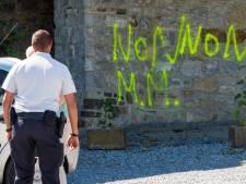 Renfort policier à Malonne, des tags anti-Martin sur le couvent