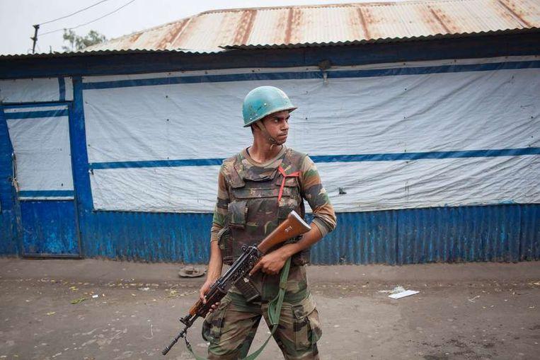 Een VN-vredessoldaat in Malakal, in Zuid-Soedan. Beeld afp