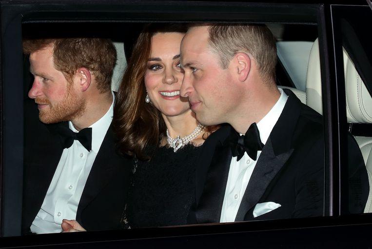 Kate Middleton bij het 70-jarige jubileum van queen Elizabeth en prins Philip in 2017: Beeld Getty Images
