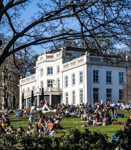 Park Sonsbeek is op eerste zonnige 'lentedag' een absolute hotspot, Marcouch maakt zich zorgen